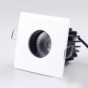 Die casting COB led down lights square fire rated downlight recessed lights