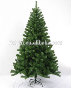 180cm/1.8meters green pvc environmental christmas tree with iron base
