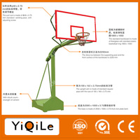 New Arrival portable basketball stand physical sports equipment basketball with acrylic basketball backboard