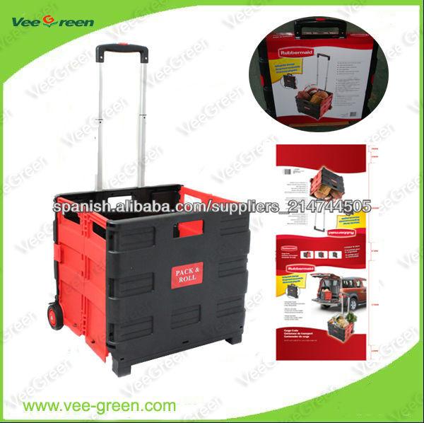 dd7c509257a6 plástico plegable carrito de compras para la venta-imagen-Carritos ...
