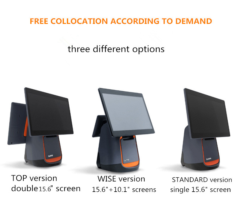 SUNMI T2 Multi-point Capacitive Touch screen all in one  Android  pos system China  machines pos with  Sunmi OS