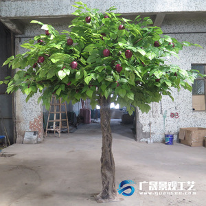 fake big tree wood plastic material outdoor indoor garden decorations Artificial apple tree