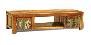 SKB family Reclaimed Wood TV Cabinet with 2 Doors Vintage Antique-style Reclaimed Furniture Handmade