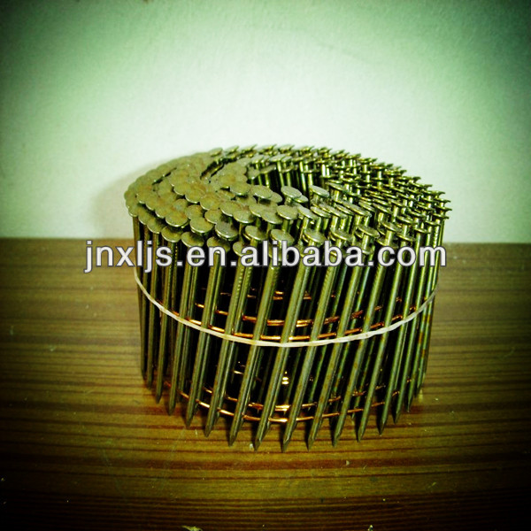 screw collated coil nails for paslode coil nailer high quality coil framing nails