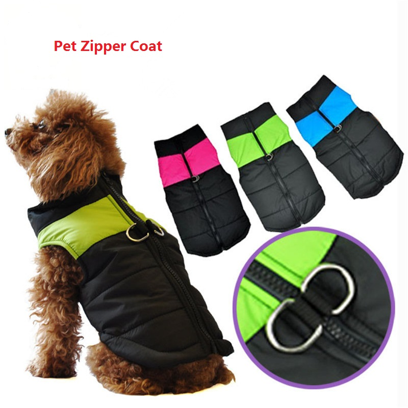 FASHION Pet Supply Dog Thick Sweater Coat Vest Zipper Closure Warm Waterproof Pet Clothes For Small Medium Large Dogs Winter