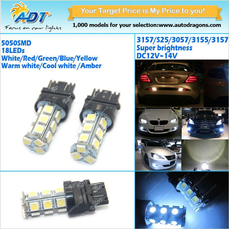 Super Bright Ultra White Led 5050 18 Smd 3157 Bulbs Turn Signal ...
