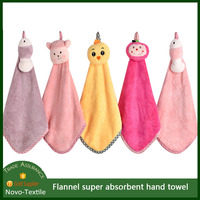 China supplier Cute Face Towel Flannel Hand Towel