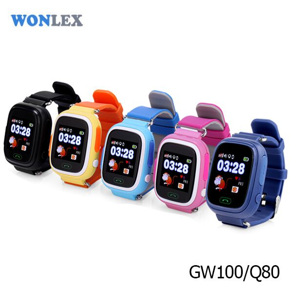 New Arrival Wholesale Anti-lost SOS Help Security Wristbands Wonlex Q80/Q90 Fast Track Watches Kids with Vibration