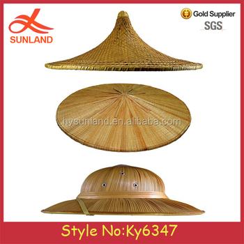Preço de fábrica Vietnamita Conical Rice Agricultores Hat Fancy  DressTraditional Tribal Oriental Chapelaria chapéus de palha f6edff4eadd
