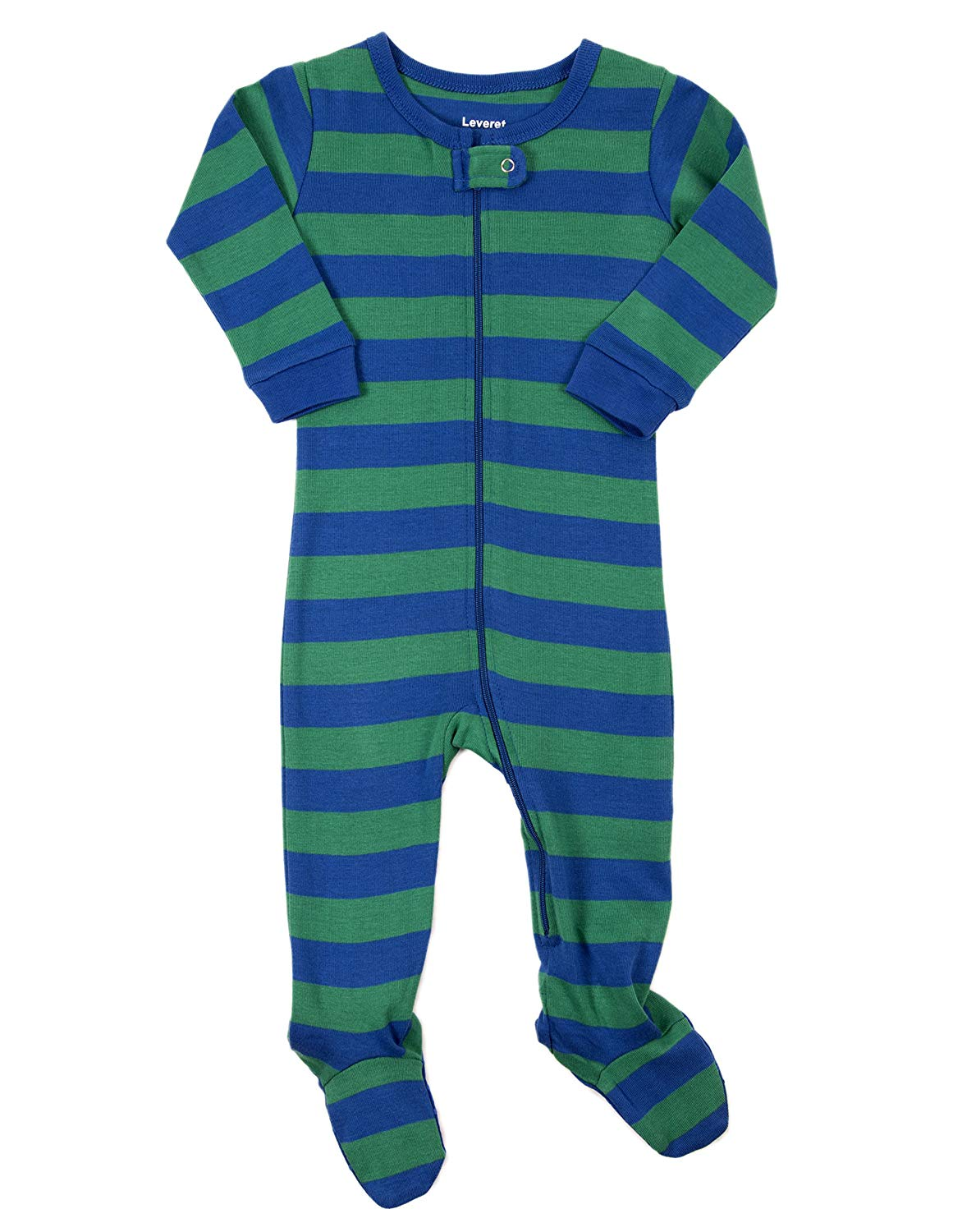 Get Quotations · Leveret Striped Baby Boys Footed Pajamas Sleeper 100%  Cotton Kids   Toddler Pjs (0 44e6dbc78