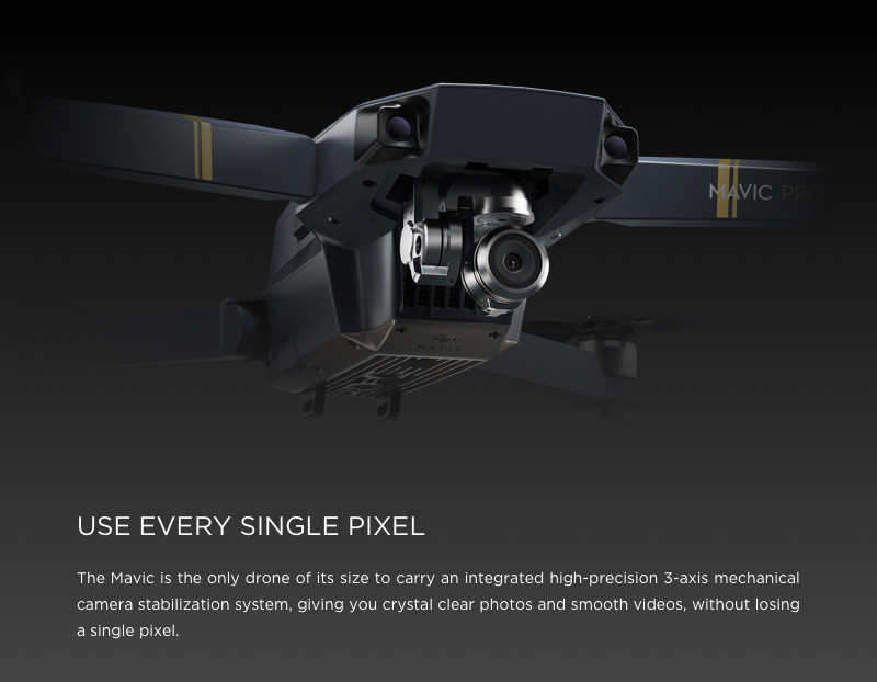 Pre-order! DJI Mavic Pro Drone With 4K HD Camera, Built in OcuSync Live View GPS and GLONASS System, ActiveTrack, Level Headed