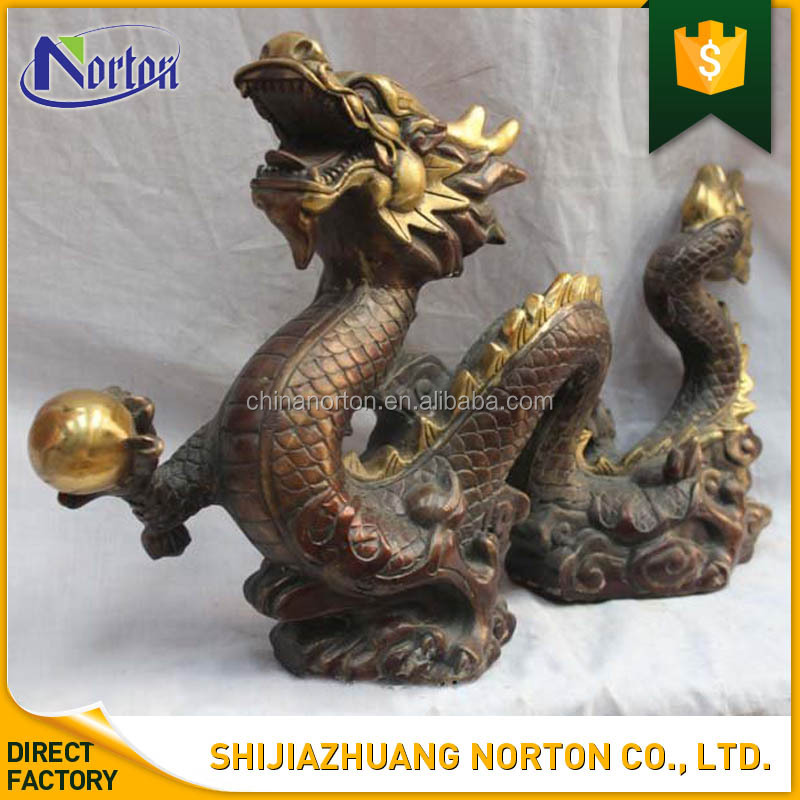 chinesischen customized Bronze Fengshui Dragon Statue NT-BSY144