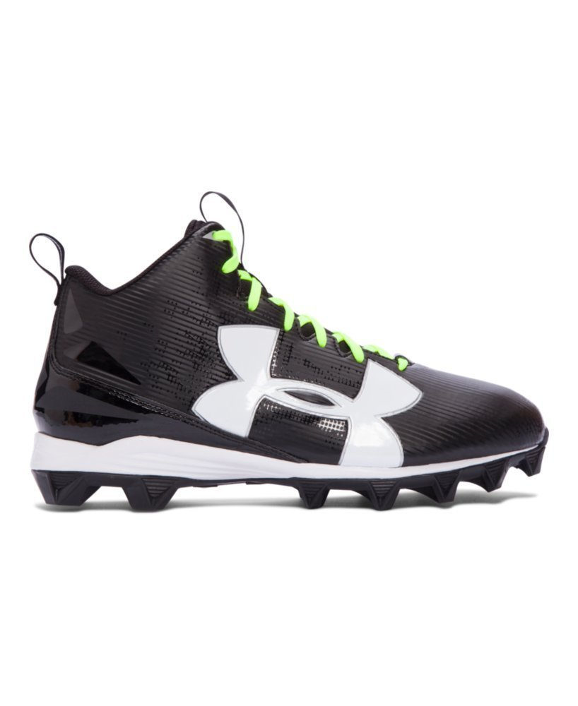 reputable site 2270b ee530 Under Armour Men s UA Crusher RM Football Cleats, Black White