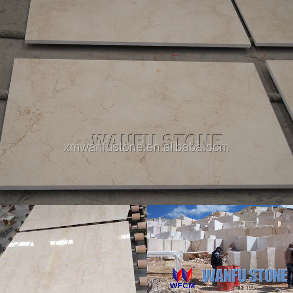 Classical Turkey Beige Marble for Floor & Wall Tile,White Rose Cut-to-size Marble Tile