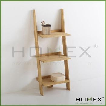 Brand-new 3 Tier Mini Wooden Ladder Shelf/homex_bsci - Buy 3 Tier Mini  WX21