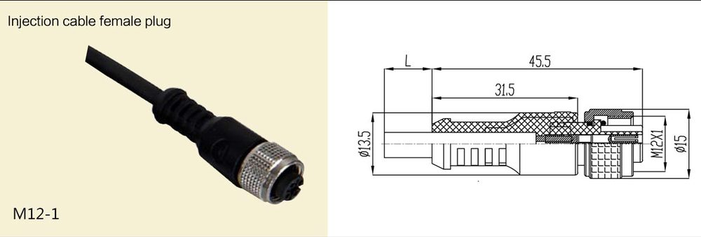 m8 m12 male cable er assembly type 3 4 5 8 12 pin connector m8 m12 male cable er assembly type 3 4 5 8 12 pin connector ip66 ip67