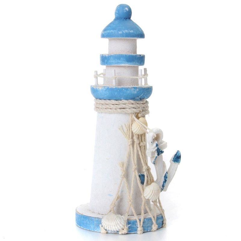 Fashion Wooden <font><b>Decorative</b></font> <font><b>Nautical</b></font> Beacon Tower Lighthouse <font><b>Home</b></font> Room Bedroom <font><b>Nautical</b></font> Crafts Beach Ornament <font><b>Decoration</b></font> Gifts