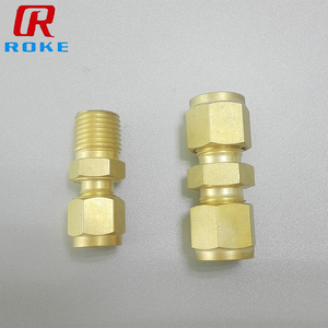 3/4 Customized Compression Male Female Thread Equal Copper Tube Fittings For Water