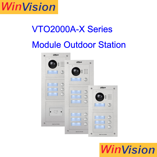Intelligent Building dahua brand Video Intercom VTO2000A-X Apartment Outdoor Station