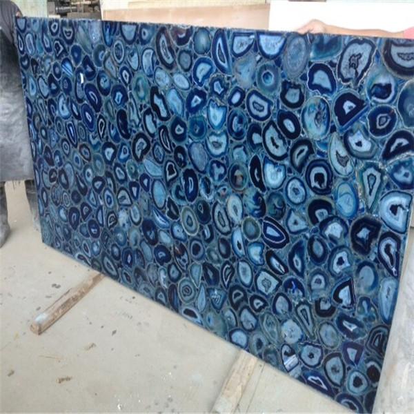 Polished Blue Agate Slabs Agate Granite Slabs For Bathroom