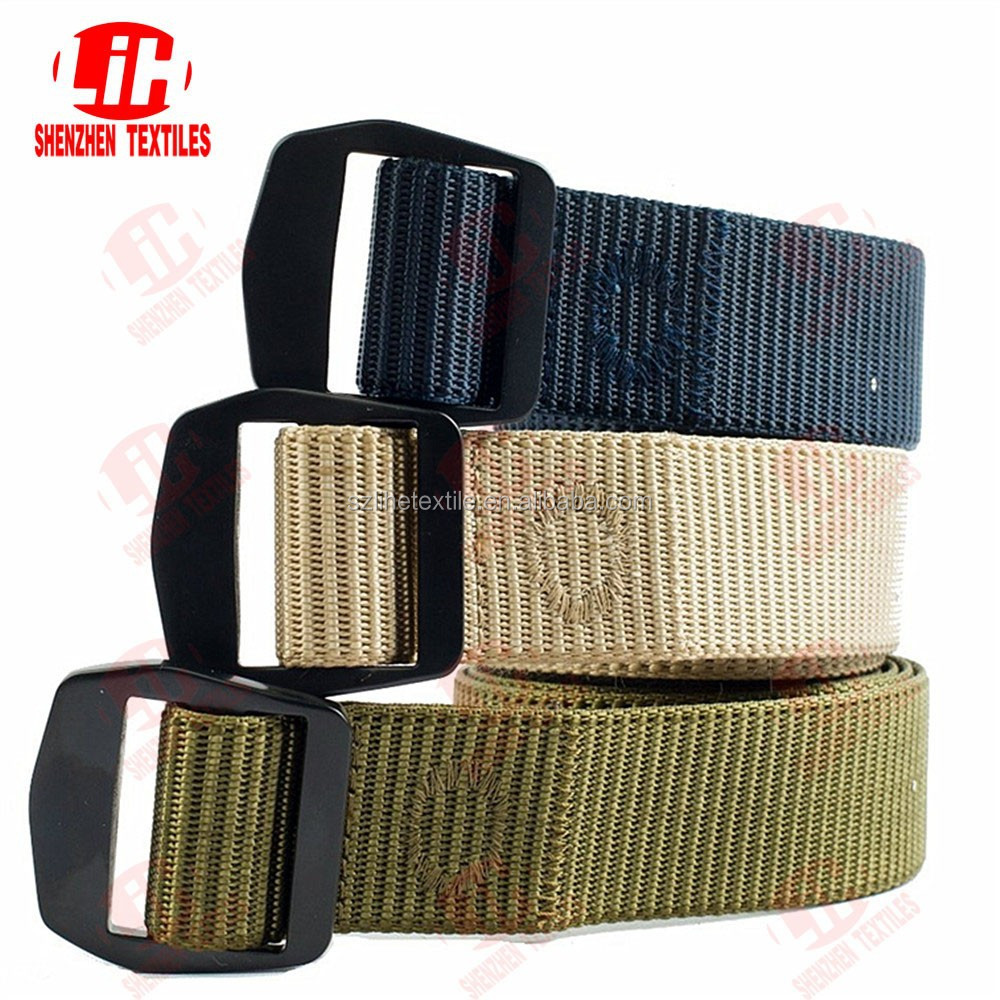 heavy duty custom color webbing strap with plastic buckle