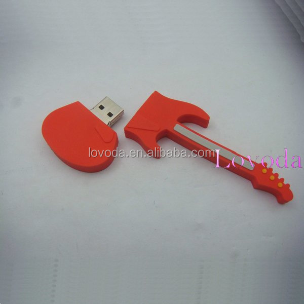 Customized logo 4 tb guitar shape usb flash drive/usb flash drive 128gb/256gb usb 2.0 flash drive with real capacity LFN-215