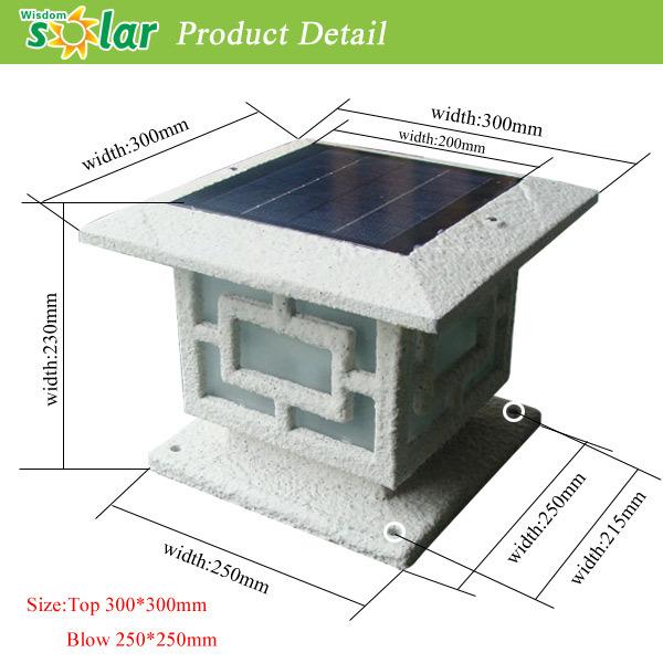Low Voltage Outdoor Lighting With Aluminum Solar Pillar Light ...