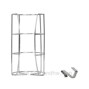 Bathroom kitchen wrought iron chrome wire handy hook hanging toilet roll paper holder