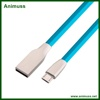 OEM Fast Charging Type C 2.1A 3D Zinc Alloy Micro USB Cable cord wire for Android IOS mobile phone