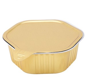 400ml Disposable aluminum foil sealing food container with paper lid
