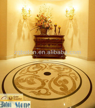 On Sale Water Jet Stone Medallion Marble Waterjet Patterns For Hotel Lobby Flooring View Water Jet Medallion Boton Product Details From Zhaoqing