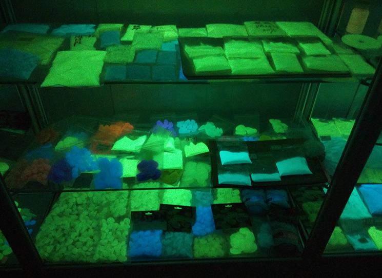 Fabricant fluorescent photoluminescent lueur dans l'obscurité pigment de peinture en aérosol/poudre lumineuse/brillant encre