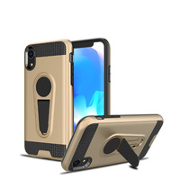 Car Magnetic Holder Stand Shockproof Armor Kickstand Hybrid TPU PC Phone Case Cover for iPhone NEW XR