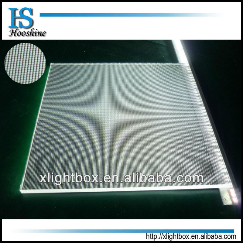 laser dotting engraving acrylic PMMA light guide panel /light guide plate/ LGP for lighting boxes or ceiling lightin,panel light