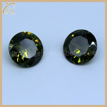 Factory price cz gem with 1.1mm AAA round cut olive cubic zirconia for fashion jewelry