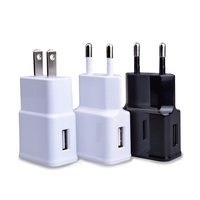 Black White Durable single Port US EU Plug 5V 2A usb Wall Travel Mobile Power AC Charger Adapter for samsung