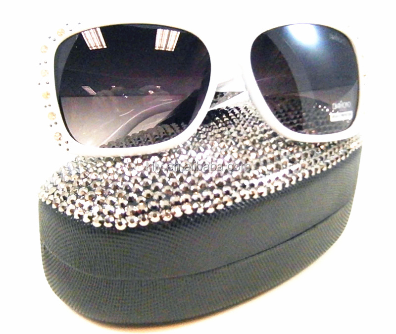 Crystal/Rhinestone Stickers for crystal studded hard leather sunglasses case wholesale