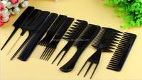 salon carbon fiber plastic hair comb