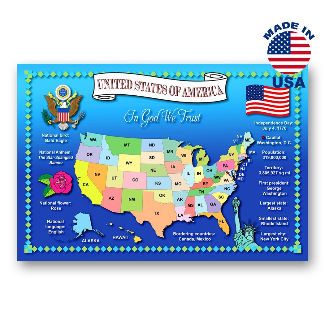 Post cards with IA map and state symbols Made in USA. IOWA STATE MAP postcard set of 20 identical postcards