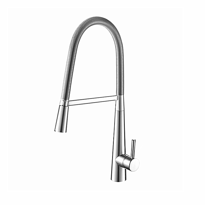 Modern Commercial <strong>Spring</strong> Brushed Nickel Pull Down Sprayer <strong>Kitchen</strong> Sink <strong>Faucet</strong>