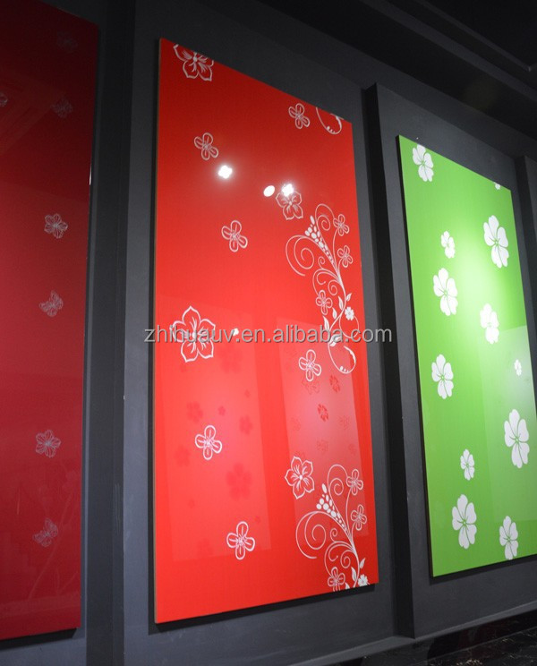 flower color painting high gloss uv mdf sheet for furniture