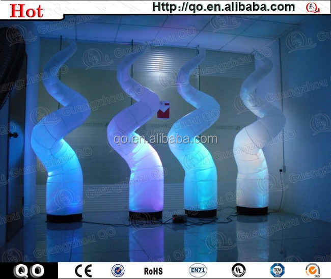 Newest style design outdoor event led inflatable tube cone