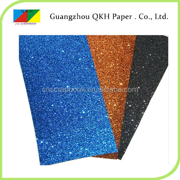 hot products color acceptable handmade glitter paper