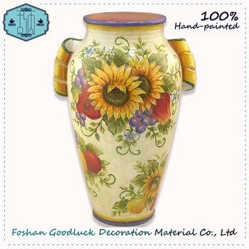 Hand Made Unique Bright Color Yellow Big Size Decorative Vases Buy