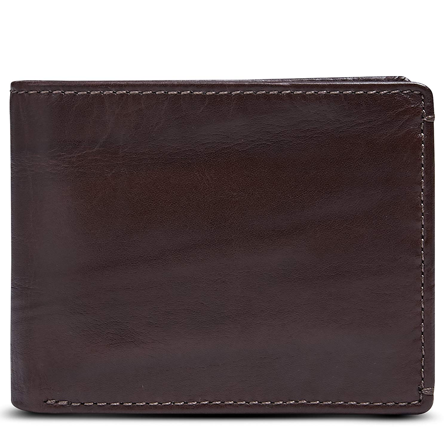 HOJ Co. Jack Double ID Bifold Wallet-Full Grain Leather-Hand Burnished Finish-Men's Leather Bifold Wallet