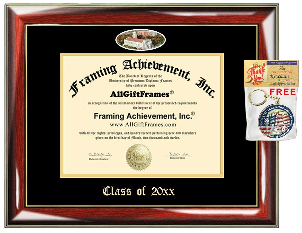 AllGiftFrames Custom Diploma Frame Embossed Loyola University of Chicago College Best Graduation Degree Frame Double Mat Campus Fisheye LUC Picture Frame Cheap Gift
