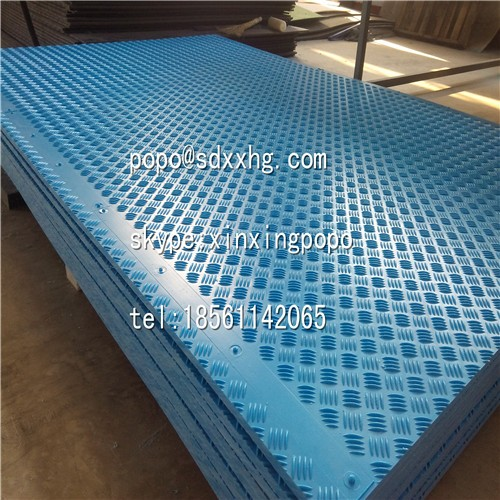 portable uhmwpe temporary waterproof road mat, hdpe plastic ground cover sheet