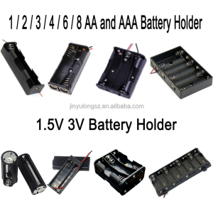 Waterproof 1.5v 9v cr2032 lr44 aaa aa 26650 18650 battery holder