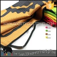Microfiber waffle color printing small hand gym towel