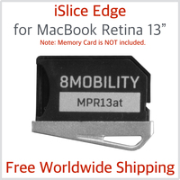 100%New 8MOBILITY iSlice Aluminum Late 2012- Early 2015 Silver for rMBP Retina A1425 A1502 SD Storage Adapter Reader